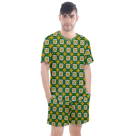 Df Russell Wolfe Men s Mesh Tee And Shorts Set by deformigo