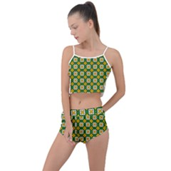 Df Russell Wolfe Summer Cropped Co Ord Set by deformigo