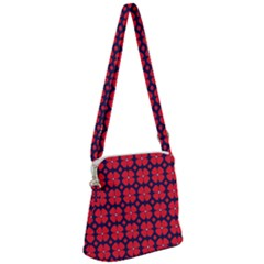 Df Clematis Zipper Messenger Bag by deformigo