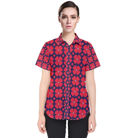 Df Clematis Women s Short Sleeve Shirt by deformigo