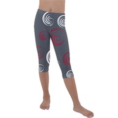 Rounder Iv Kids  Lightweight Velour Capri Leggings