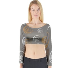 Rounder Vi Long Sleeve Crop Top by anthromahe