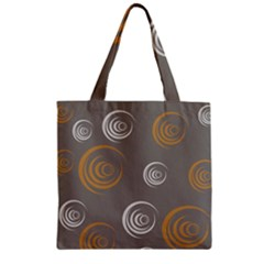 Rounder Vi Zipper Grocery Tote Bag