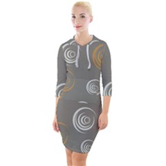 Rounder Vi Quarter Sleeve Hood Bodycon Dress