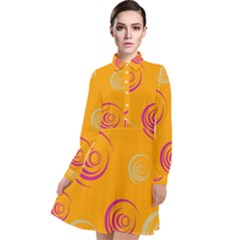 Rounder Ix Long Sleeve Chiffon Shirt Dress