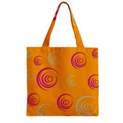 Rounder Ix Zipper Grocery Tote Bag