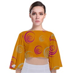 Rounder Ix Tie Back Butterfly Sleeve Chiffon Top