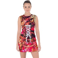 Christmas Tree  1 3 Lace Up Front Bodycon Dress