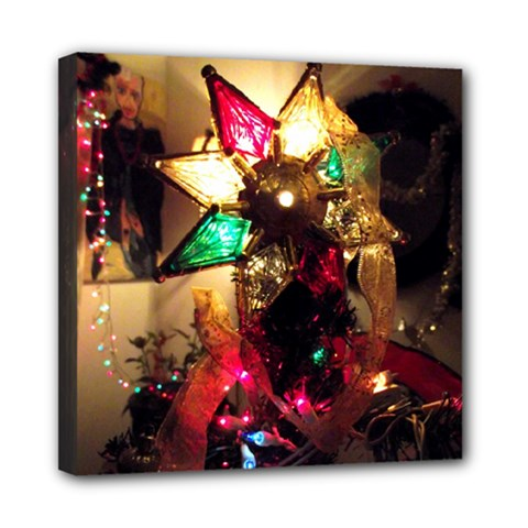 Christmas Tree  1 9 Mini Canvas 8  X 8  (stretched) by bestdesignintheworld