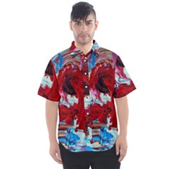 Point Of View-1-1 Men s Short Sleeve Shirt