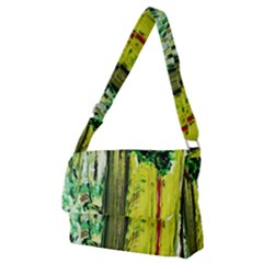 Old Tree And House With An Arch 8 Full Print Messenger Bag (m) by bestdesignintheworld