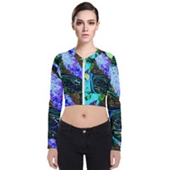 Lilac And Lillies 1 Long Sleeve Zip Up Bomber Jacket