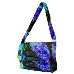 Lilac And Lillies 1 Full Print Messenger Bag (m)