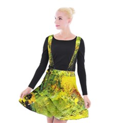 Yellow Chik 5 Suspender Skater Skirt