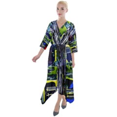 Between Two Moons 7 Quarter Sleeve Wrap Front Maxi Dress by bestdesignintheworld