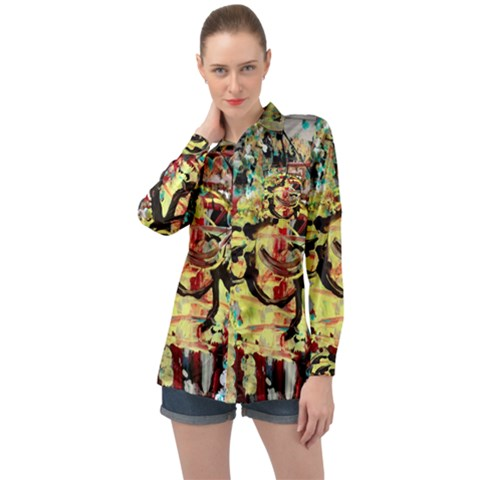Little Bird Long Sleeve Satin Shirt by bestdesignintheworld