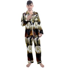 Tulips 1 3 Men s Satin Pajamas Long Pants Set by bestdesignintheworld