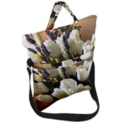 Tulips 1 3 Fold Over Handle Tote Bag