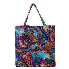 Seamless Abstract Colorful Tile Grocery Tote Bag by HermanTelo