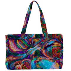 Seamless Abstract Colorful Tile Canvas Work Bag by HermanTelo