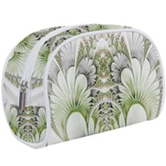 Fractal Delicate White Background Makeup Case (large)