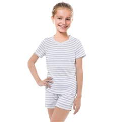 Pattern Background Monochrome Kids  Mesh Tee And Shorts Set