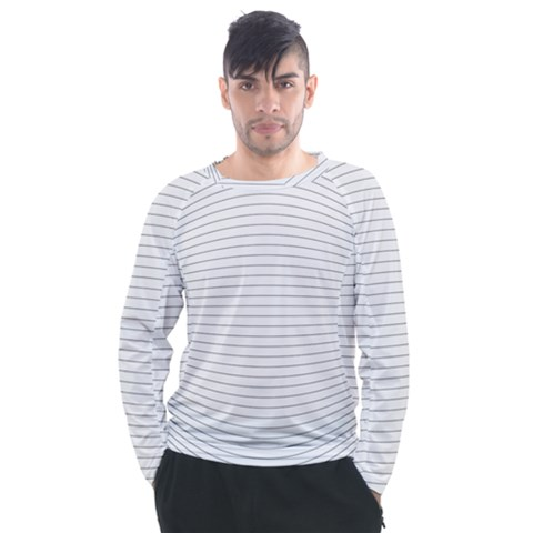 Pattern Background Monochrome Men s Long Sleeve Raglan Tee by HermanTelo