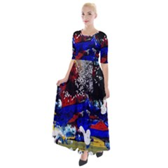 Holidays 1 1 Half Sleeves Maxi Dress by bestdesignintheworld