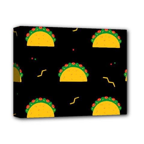 Festive Seamless Pattern With National Taco Food Deluxe Canvas 14  X 11  (stretched)