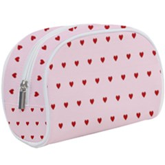 Hearts Seamless Pattern Pink Background Makeup Case (large)