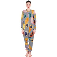 Italian Food Seamless Pattern Onepiece Jumpsuit (ladies)