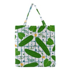 Seamless Pattern With Cucumber Grocery Tote Bag by Wegoenart