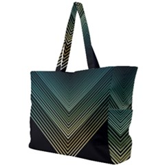 Abstract Colorful Geometric Lines Pattern Background Simple Shoulder Bag