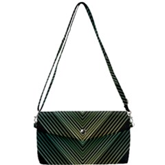 Abstract Colorful Geometric Lines Pattern Background Removable Strap Clutch Bag