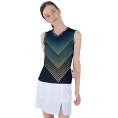Abstract Colorful Geometric Lines Pattern Background Women s Sleeveless Sports Top by Wegoenart