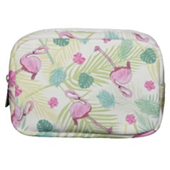 Beautiful Seamless Vector Tropical Pattern Background With Flamingo Hibiscus Make Up Pouch (small)