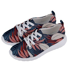 Fashionable Seamless Tropical Pattern With Bright Red Blue Flowers Women s Lightweight Sports Shoes by Wegoenart