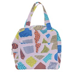 Pattern With Pieces Paper Boxy Hand Bag by Wegoenart