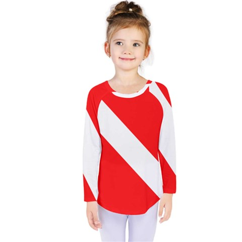 Diving Flag Kids  Long Sleeve Tee by FlagGallery
