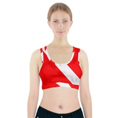 Diving Flag Sports Bra With Pocket