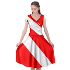 Diving Flag Cap Sleeve Wrap Front Dress by FlagGallery