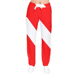Diving Flag Women Velvet Drawstring Pants