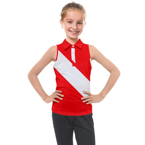 Diving Flag Kids  Sleeveless Polo Tee by FlagGallery