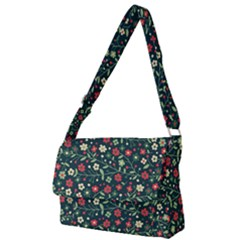 Flowering Branches Seamless Pattern Full Print Messenger Bag (l)