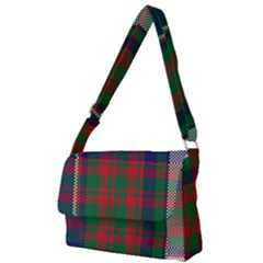 British Tartan Check Plaid Seamless Pattern Full Print Messenger Bag (l) by Wegoenart