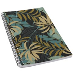 Fashionable Seamless Tropical Pattern With Bright Red Blue Plants Leaves 5 5  X 8 5  Notebook