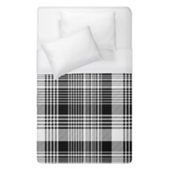 Black White Plaid Checked Seamless Pattern Duvet Cover (single Size)