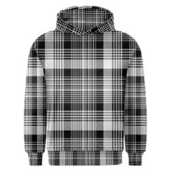 Black White Plaid Checked Seamless Pattern Men s Overhead Hoodie