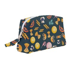 Italian Food Seamless Pattern Wristlet Pouch Bag (medium)