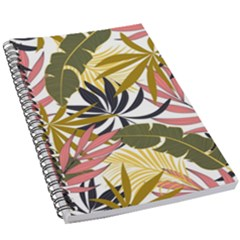 Fashionable Seamless Tropical Pattern With Bright Pink Green Flowers 5 5  X 8 5  Notebook